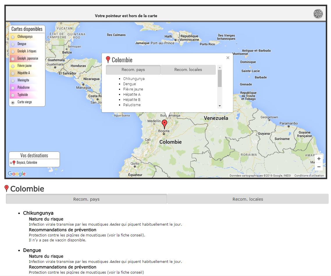 Colombie - Vaccinations voyages - Paludisme, Zika... - Google Chrome